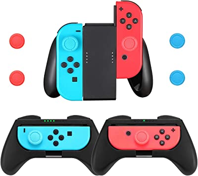 Grip for Nintendo Switch Joy-con, Comfort Game Controller Handle ...
