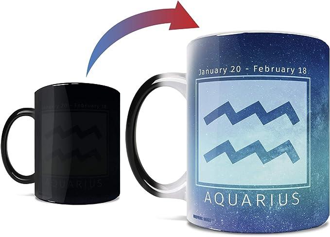 Birthday Zodiac Sign Aquarius Morphing Mugs Heat Sensitive Mug Image Revealed When Hot Liquid Is Added One 11oz Ceramic Mug Kitchen Dining