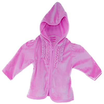Boutique Girls Velour Hooded Sweater, Color:Soft Pink, Sizes:Newborn-9 mth