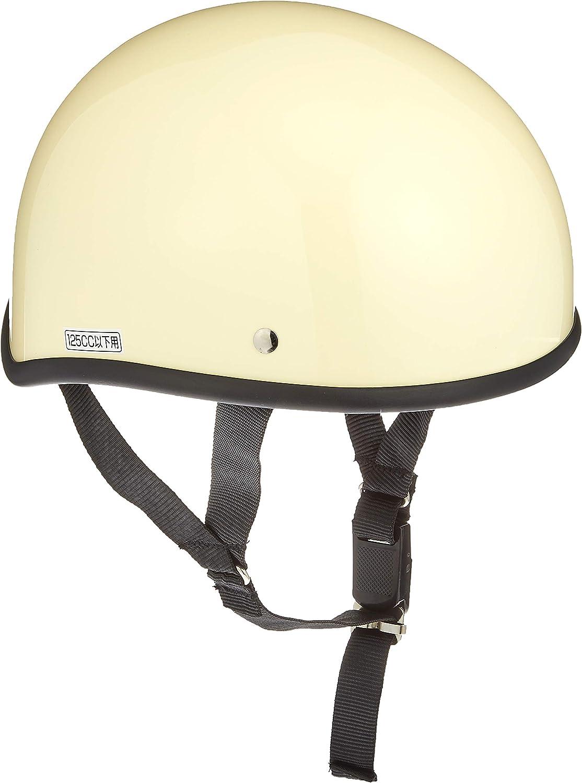 バイクパーツセンター ヘルメット ハーフ ダックテール アイボリー フリーサイズ (頭囲 57cm~60cm未満) 7112