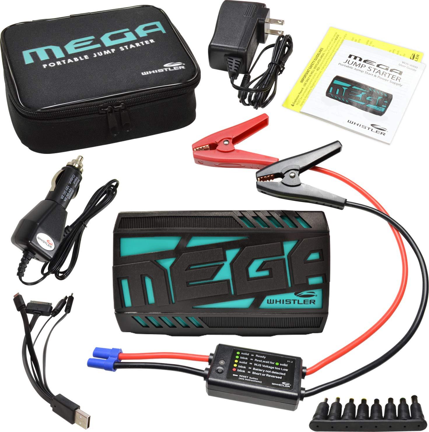 1d10071f33e Amazon.com: Whistler WJS-4000 MEGA Portable Lithium Jump Starter: 240  Starting Amps / 480 Peak Amps: WHISTLER: Automotive
