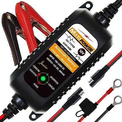MOTOPOWER MP0205A 12V 800mA Cargador de batería automático ...