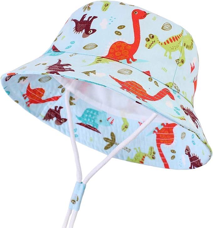 Cappello da sole neonato mare regolabile cappellino pescatore da spiaggia CAMLAKEE Cappelli estivi per bambini