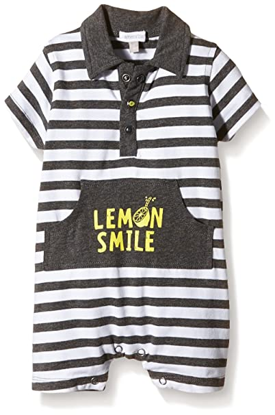 Absorba Baby Boys Striped Full Slip - Grey - 3-6 Months  Amazon.co.uk   Clothing 1c9e0e953f5