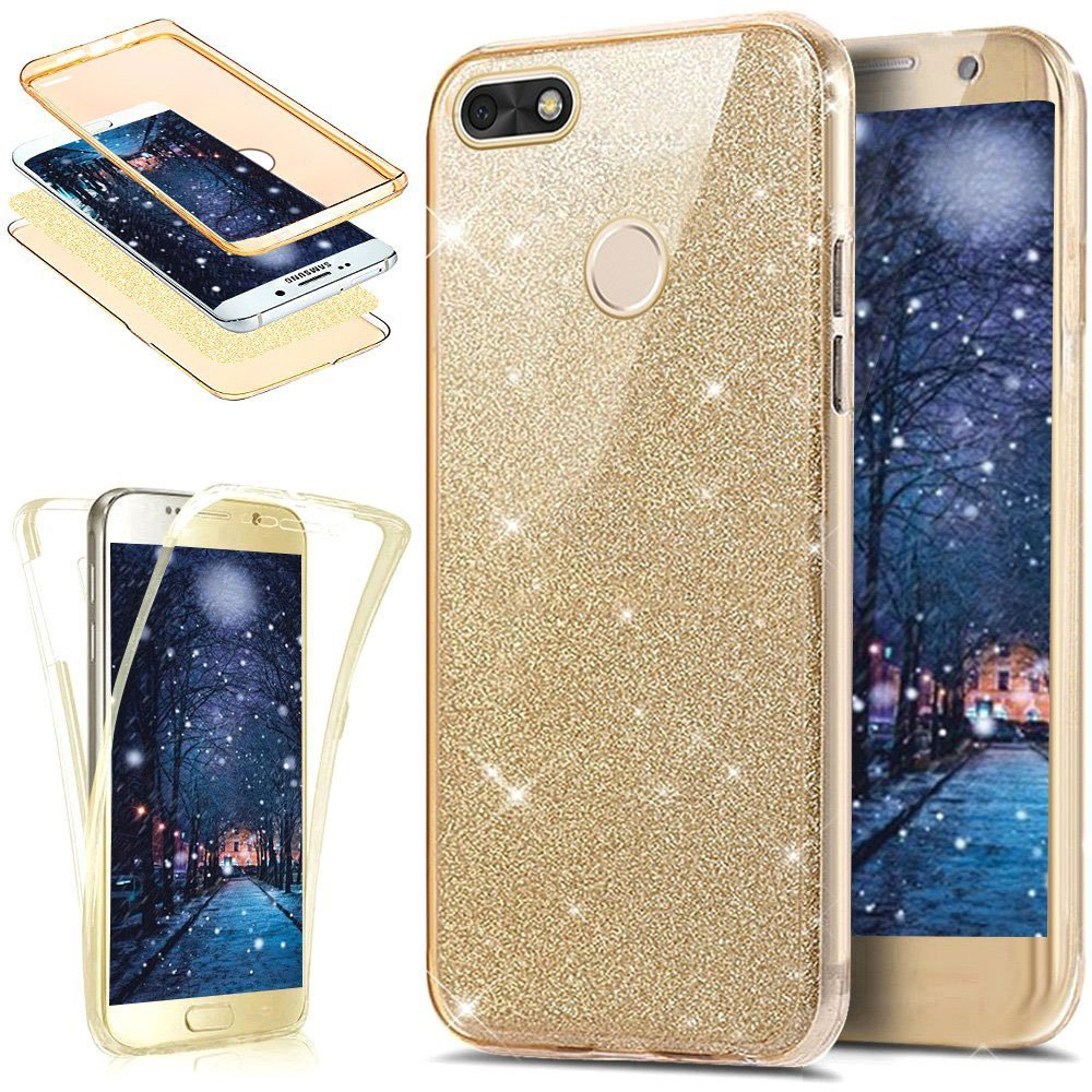 sports shoes 154ee 5490d Huawei P9 Lite Mini Case,[Full-Body 360 Coverage Protective] Crystal Clear  Sparkly Shiny Glitter Bling Front Back Full Coverage Soft Clear TPU ...