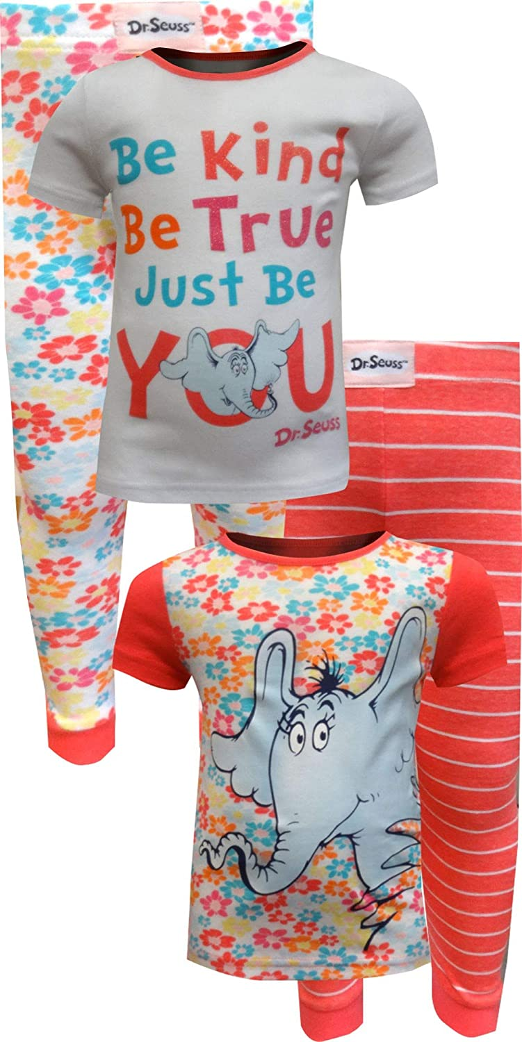 Dr Seuss Little Girls Toddler Be You Four-Piece Pajama Pant Set