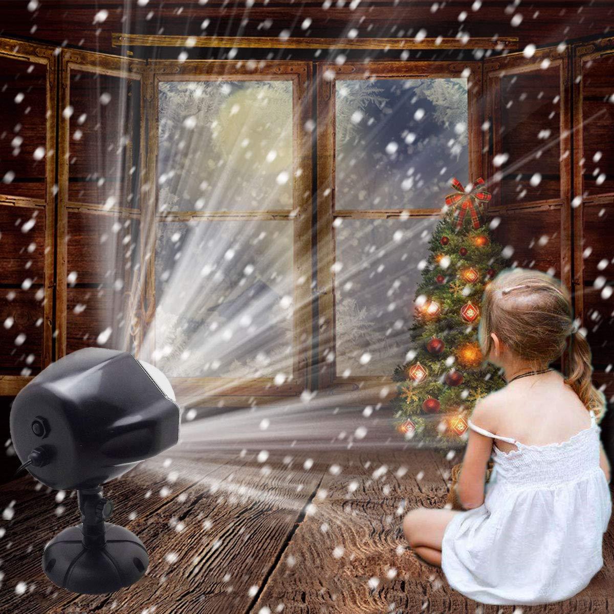 7d0238d1386 GESIMEI Proyector Navidad LED Nieve Luz del Proyector con Control Remoto  Impermeable Iluminación de Jardín Lámpara de Proyección para Fiesta Boda ...
