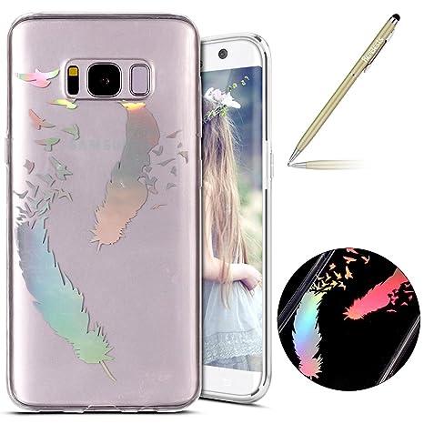 Herbests Funda Samsung Galaxy S8 Silicona, Samsung Galaxy S8 Carcasa Silicona Suave TPU Gel Funda
