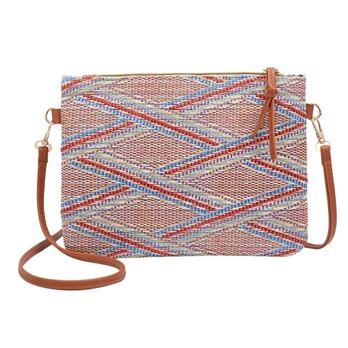 28d1a84f33d4 Amazon.com: ULVMHFNH Women Girl Weave Bags National Pretty Crossbody ...