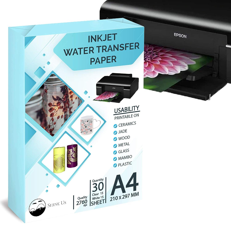 Amazon.com: Waterslide calcomanía de papel de transferencia ...