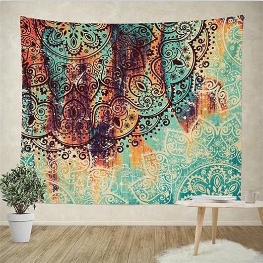 Mandala Printed Hanging Tapestry Blanket Yoga Mat Home Living Room Decor Gifts