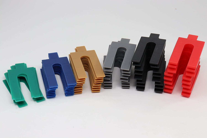 Entretoises en plastique 48 piè ces - 1/2/3/4/5/6 mm | Entretoise pour cloison sè che cales Bayram