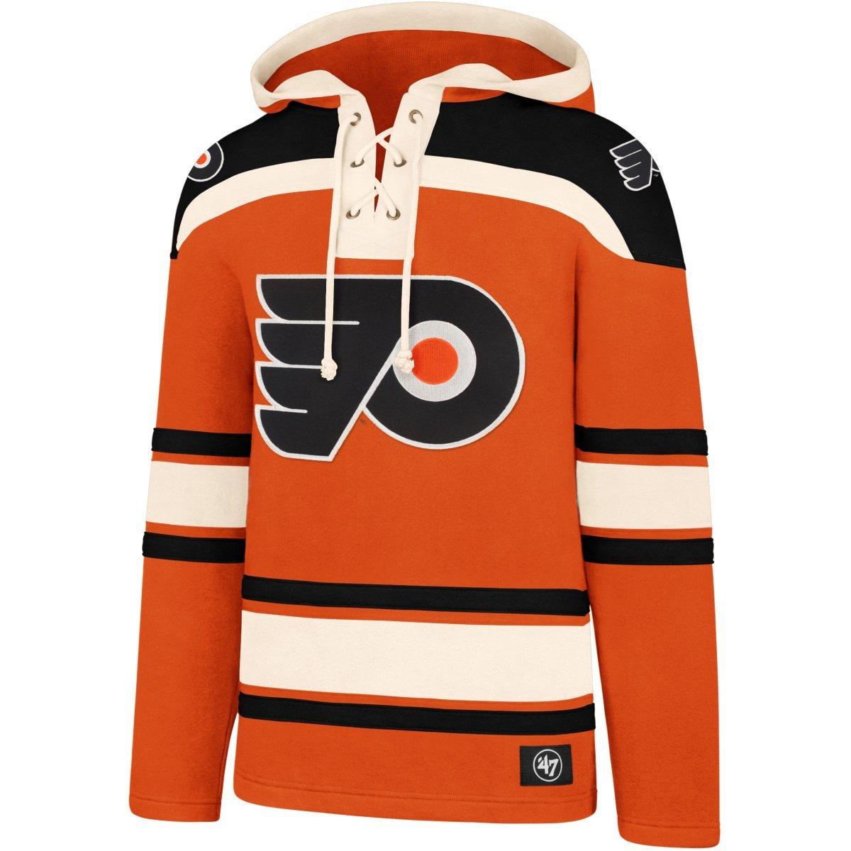 '47 Brand Philadelphia Flyers Lacer Jersey Hoodie NHL Sweatshirt