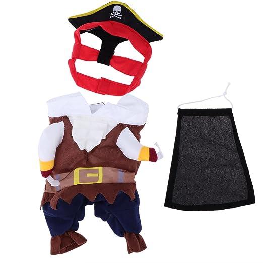 Pixnor - mascotas gato perro ropa Disfraz Pirata traje ropa con ...