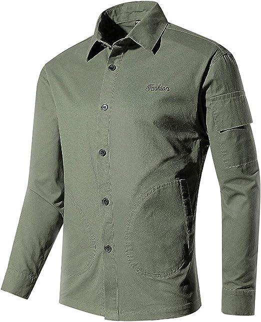 Camisa de Manga Larga para Hombre Camisa Casual para Hombre ...