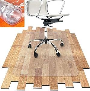Hardwood Floor mat/thickest Chair mat-32 X 32 inch Transparent Crystal Chair mat for Hard Floors,Plastic mat for Desk ChairOffice ChairCushion (80x80x0.15cm)