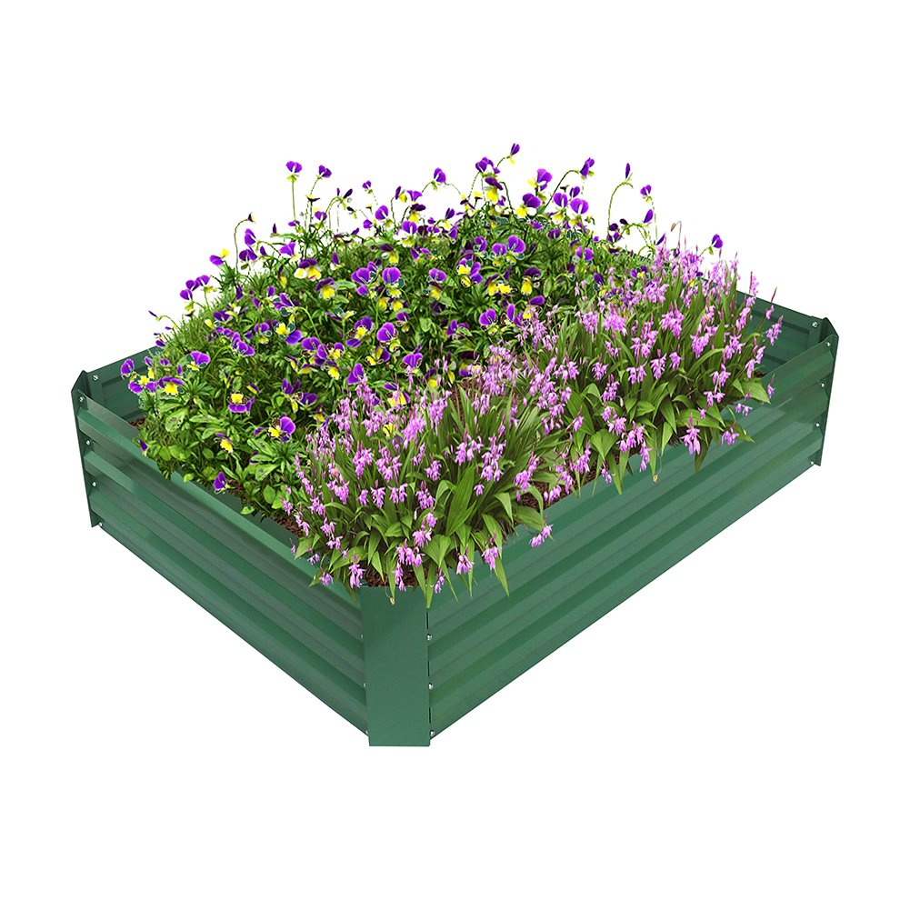 ART TO REAL Garden Metal Raised Bed, Powder-coated Raised Planter for Vegatable Flower Grows, Anti-rust, No Crack, No Decay, 47.2'' L x 35.4'' W x 11.8'' H