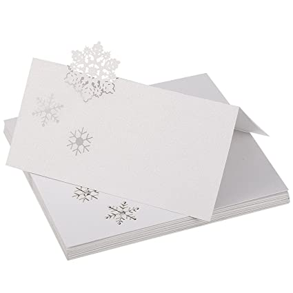 Cspring Snowflake Table Name Place Cards For Christmas Wedding Party