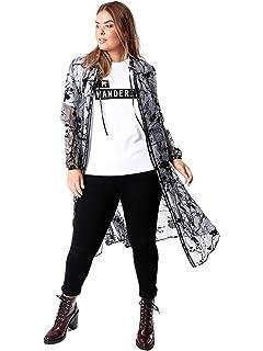 6e24a85206119 Lovedrobe Koko Women s Plus Size Black Pinafore Dress  Amazon.co.uk ...
