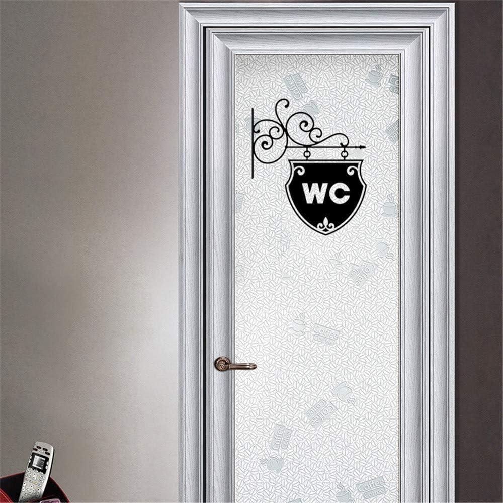 Dinglong Stickers muraux Boutique,WC Maison de Famille DIY Sticker Mural Amovible Stickers muraux Vinyle Art Room Decor