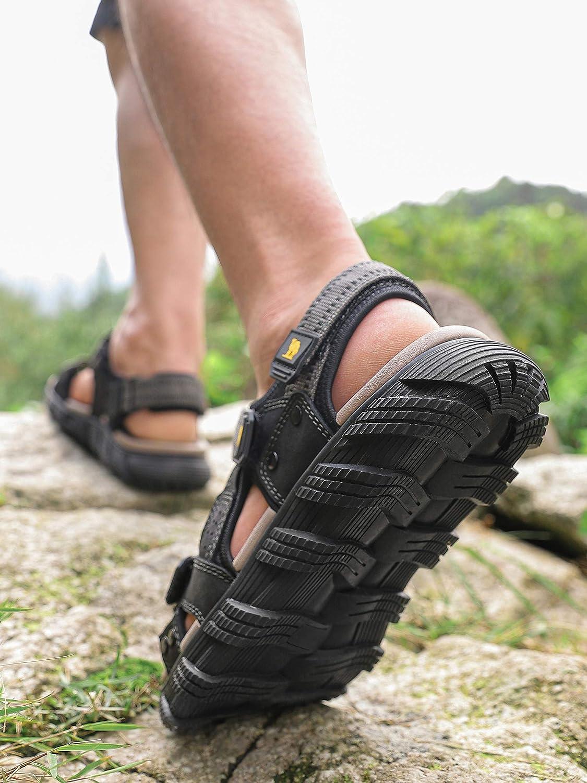 CAMEL CROWN Sandale Randonnee Homme Trekking Confortables Bout Ouvert Ajustable Respirant /Ét/é Sandale