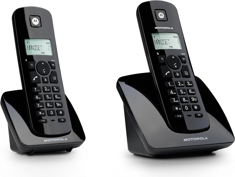 Motorola C402E DECT Identificador de Llamadas Negro: Amazon.es: Electrónica