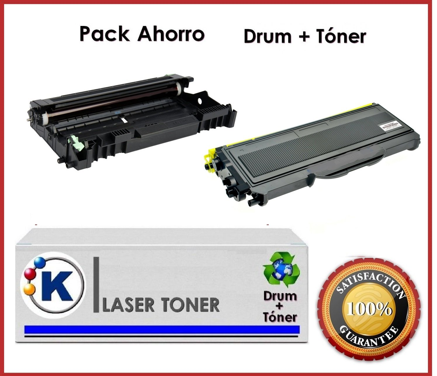 Pack Ahorro toner + tambor Brother tn2120 + dr2100 impresoras ...