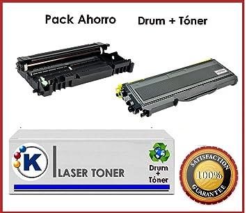 Pack Ahorro toner + tambor Brother tn2120 + dr2100 impresoras laser HL-2140, HL-2150N, HL-2170W DCP-7030, DCP-7032E, DCP-7040, DCP-7045N MFC-7320, ...