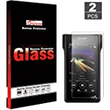 [2 Pack] Tempered Glass Screen Protector for Sony NW-WM1A/NW-WM1Z, LFOTPP 9H Hard Scratch-Resistant Round Edge Protective Fil
