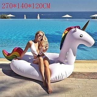 DUBAOBAO Unicornio para Adultos, Anillo para Nadar en el Agua, Cama Flotante Inflable de Agua de 270 * 140 * 120 cm, sofá Flotante con Silla Inflable, Flotador para Piscina 4 en 1