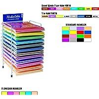 Keskin Color 180010-99 Standart Elişi Kağıdı 10 Renk Standart Elişi Kağıdı kreatif çalışmalar için uygun 1 Pakette 10 farklı renk Çok Renkli