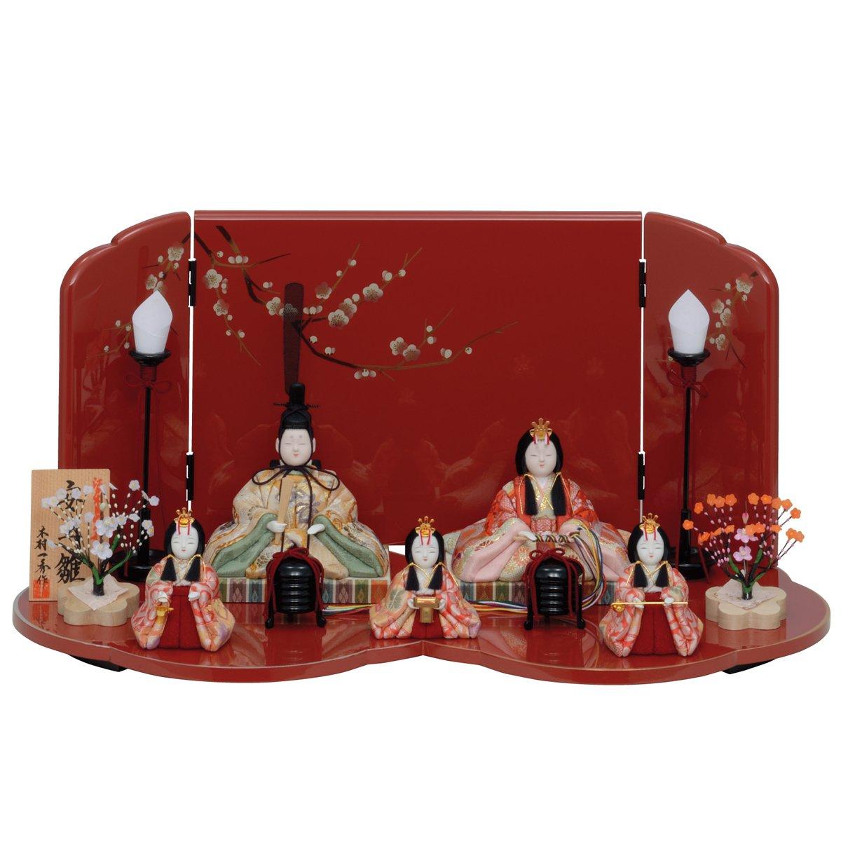 人形工房天祥 雛人形 2018年 一秀 木目込み人形 五人飾り 平飾り 安土雛160号   B078MQ99N1
