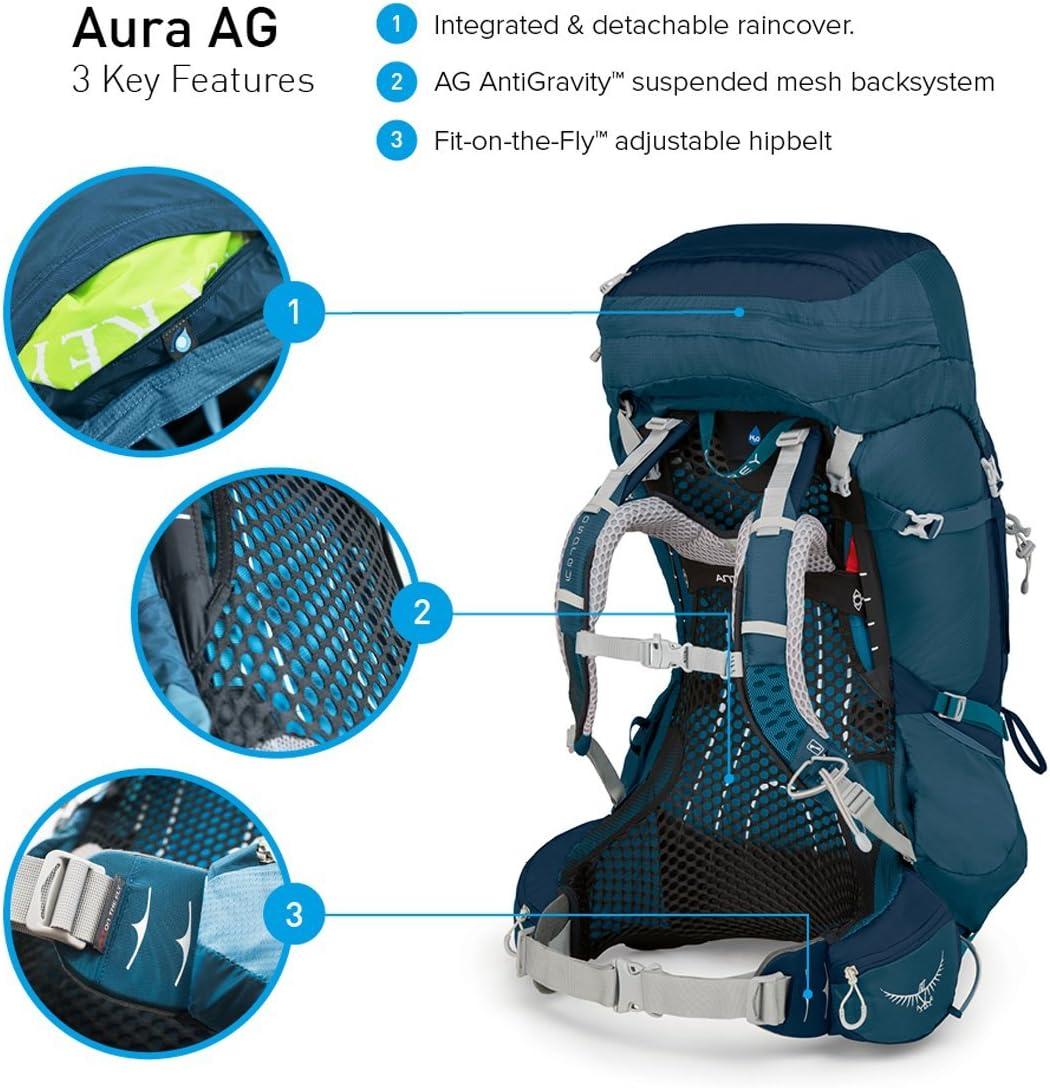 Osprey Aura AG 50 Mochila, Mujer, Vestal Grey, WS: Amazon.es: Ropa ...