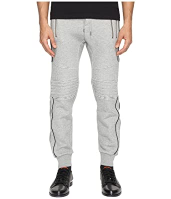 The Kooples Men's Sport Fleece Sweatpants with Zippers Grey Pants