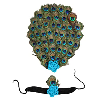 Bigood Bébé Fille Tricot Crochet Costume Photo Photographie Paon Animaux