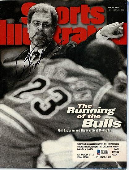 Phil Jackson Autographed Sports Illustrated Magazine Chicago Bulls