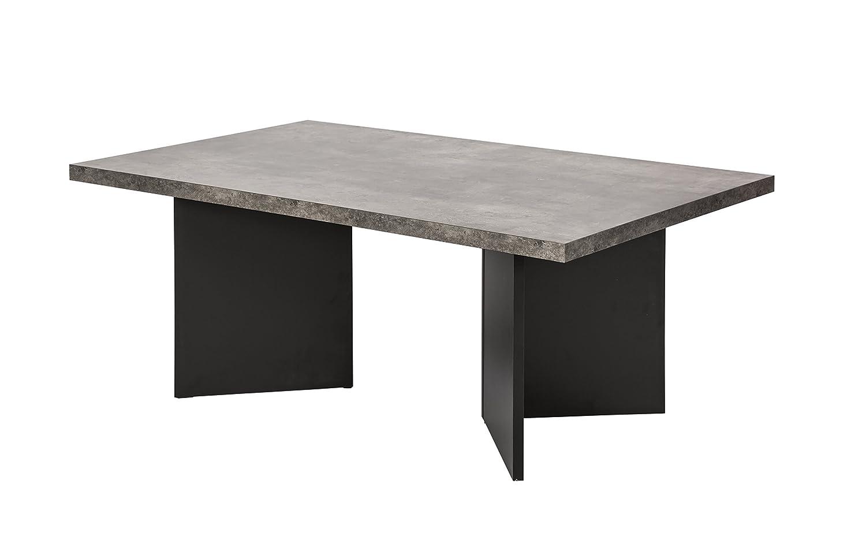 TemaHome Marbella Tavolino d'Appoggio, Legno, Effetto Cemento/Nero, 100x60x40 cm 9000.625107