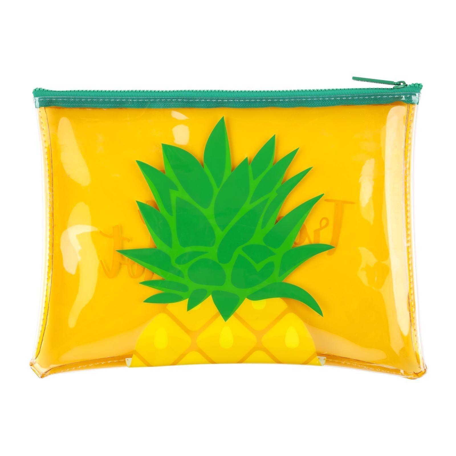 Sunnylife See Thru Beach Zipper Pouch Waterproof and Stylish Translucent Soft Plastic Handbag - Pineapple Yellow by SunnyLIFE (Image #1)