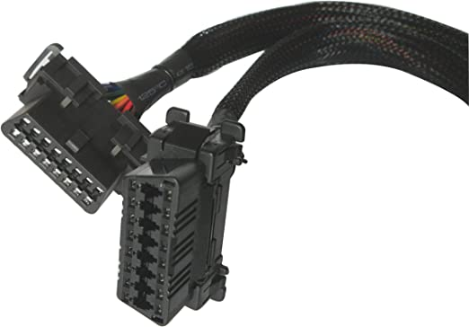 OBD2 Y Splitter Cable OEM snap-in and Universal Underdash Bracket OBDII add GPS