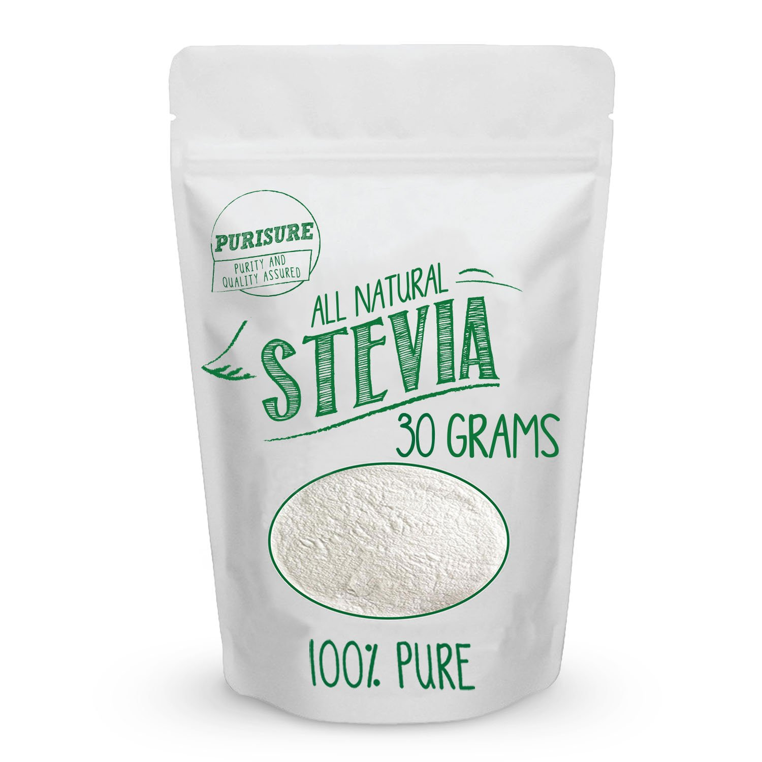 All Natural Stevia Powder 30g (203 Servings) | Highly Concentrated Pure Extract | No Fillers, Additives or Artificial Ingredients | Zero-Calorie Sweetener | Best Sugar Substitute