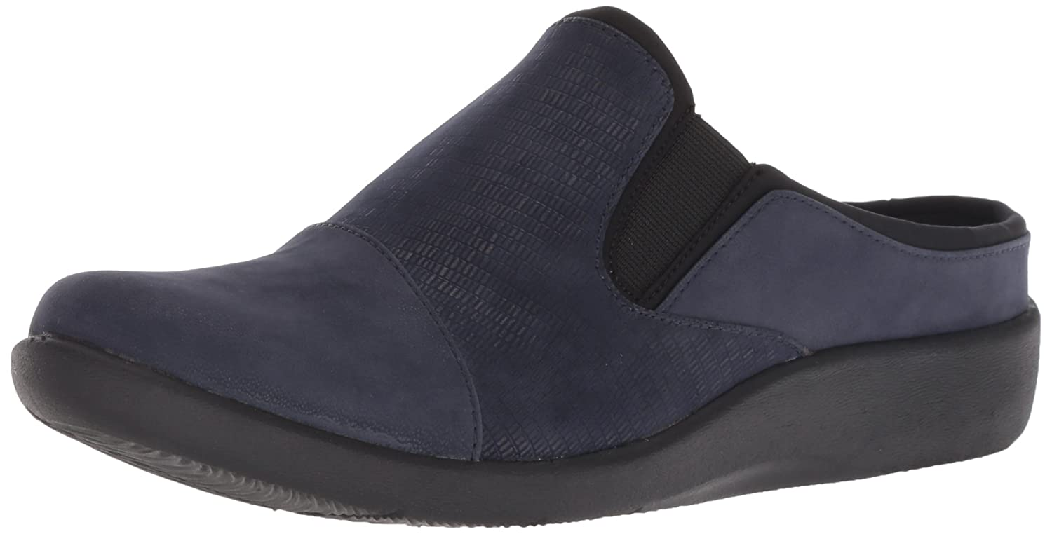 Navy Synthetic Combi Clarks Women's Sillian Free Clog