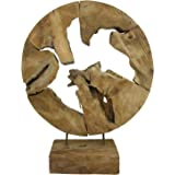 teak abstrakte skulptur teakholz massiv dekofigur wurzel handgeschnitzt jede holzskulptur ein unikat