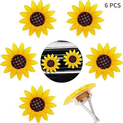 6 Pieces Car Air Freshener Sunflower car Accessories Sunflower Air Vent Clips Cute Car Air Freshener Sunflowers Gift Decorations Girasoles Car Clip Interior Air Vent Decorations: Automotive