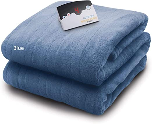 Amazon Com Biddeford Blankets Micro Plush Electric Heated Blanket With Digital Controller Full Arrowhead Blue Home Kitchen