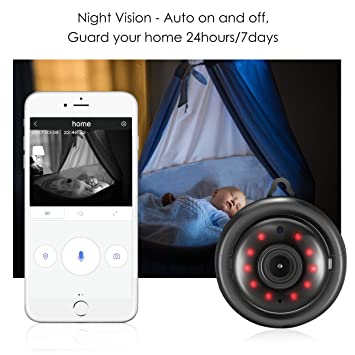 Digoo DG-M1Q 960p Mini Wireless WiFi Smart Security IP Camera Home vision nocturna Arena negra: Amazon.es: Hogar