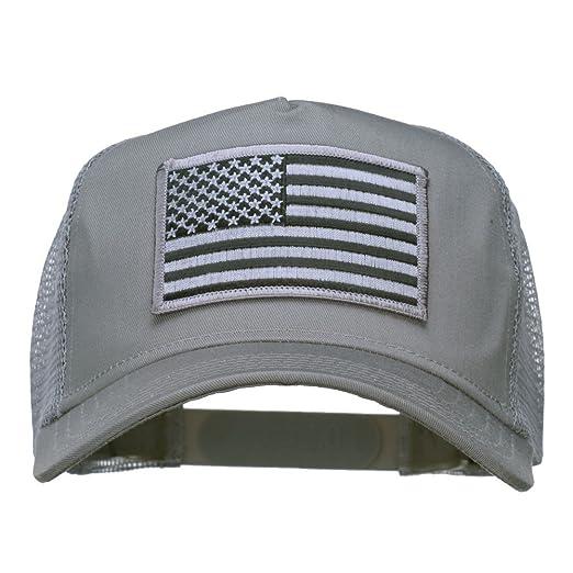 E4hats American Flag Patch Mesh Cap - Grey OSFM at Amazon Men s ... 1bfa297153