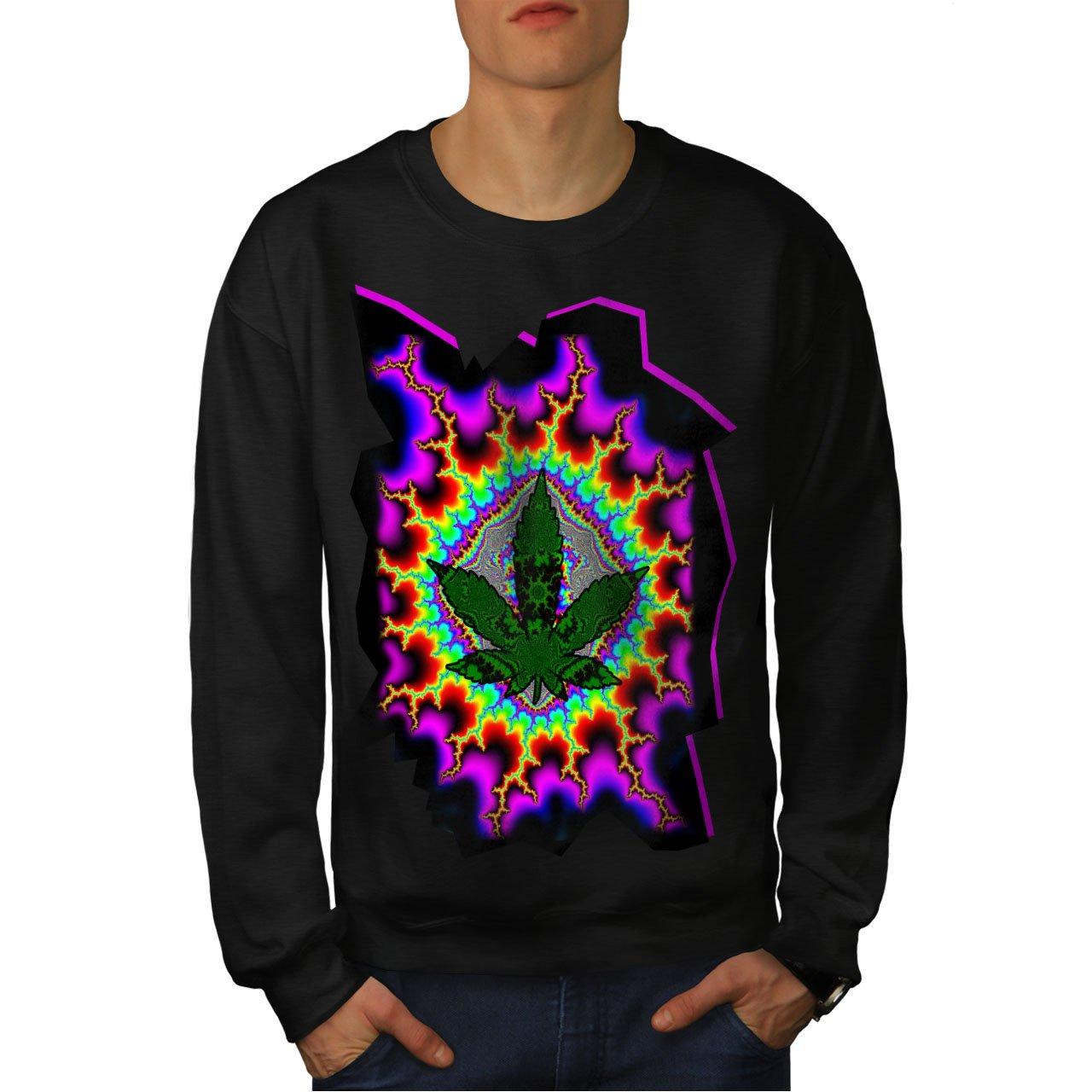 wellcoda Rasta Weed Psychedelic Mens Sweatshirt Acid Casual Jumper