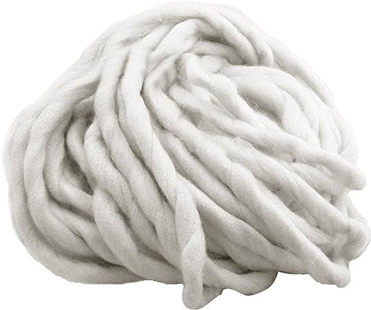 Gosear Grueso Algodón Suave Hilado Que Teje a Mano Ganchillo Tejer de Hilo de Algodón Color 1: Amazon.es: Hogar