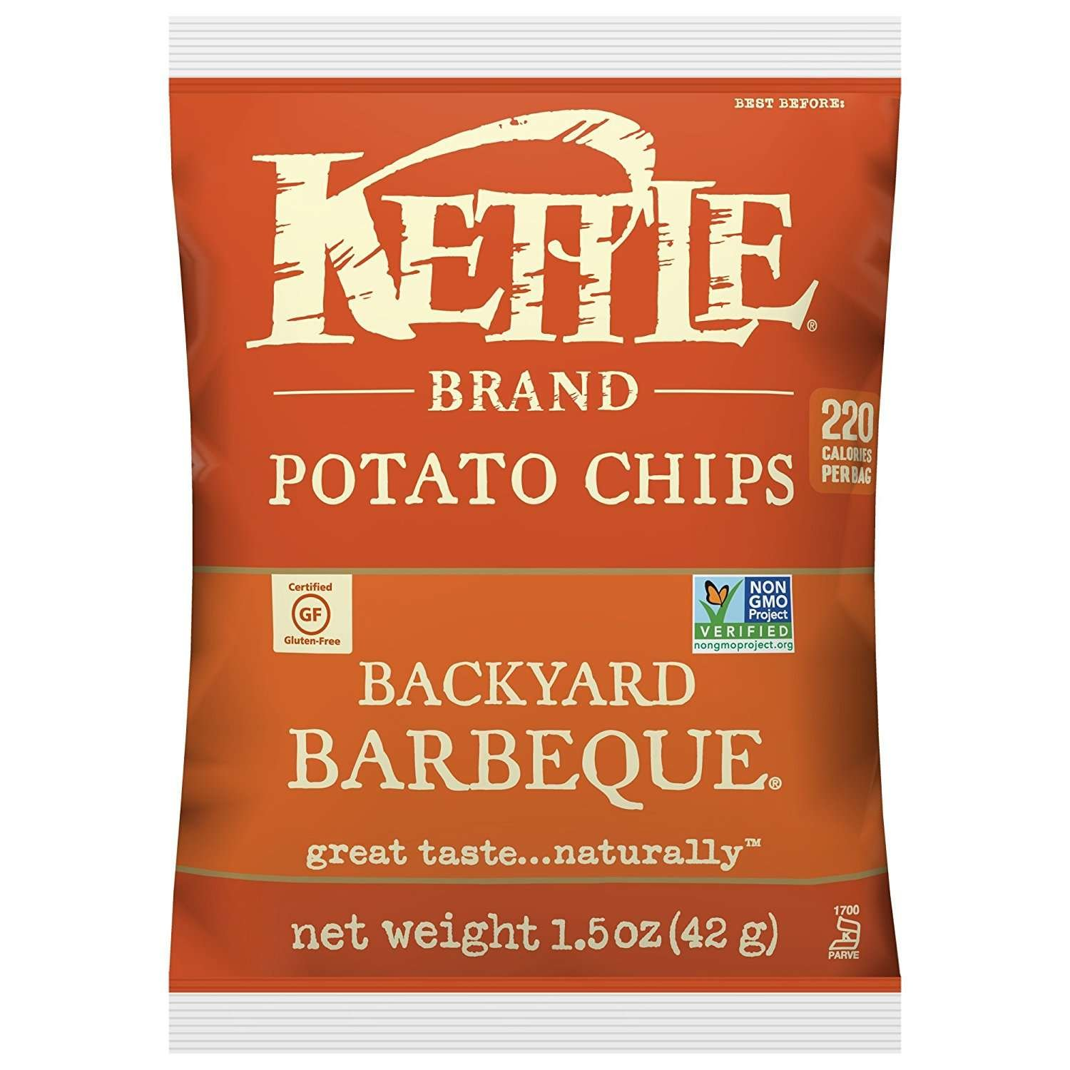 Kettle Brand Potato Chips, Backyard Barbeque, 1.5 Ounce (Pack of 24)