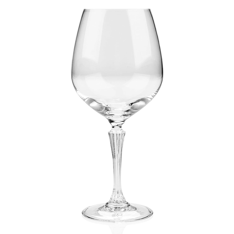 Rcr Confezione 6 Calici Glamour Burgunder 80 Cl Made in Italy Vetro Trasparente